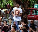 Manipur Student's Union's demonstration against Modi Govt.