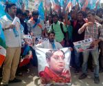 NSUI demonstration against Smriti Irani