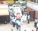 Sushma Swaraj's mortal remains reach BJP headquarters