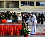 Martyr Akshay's  mortal remains arrive at Yelahanka AFS