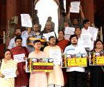 Left parties' demonstration