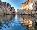 Free Photo: River Narmada's Beautiful Marble Rocks