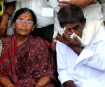IAS DK Ravi's parents' demonstration