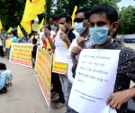 he persons with a disability take part in protest rally against State Governmentand and demand for their Doorstep Vaccination in Kolkata.