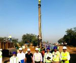 Free Photo: The pile construction started in C-6 section ( design and construction of 88 Km of viaduct between Vadodara and Ahmedabad, excluding both the stations) of Mumbai - Ahmedabad HSR corridor at village Rayka near Vadodara