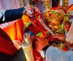 Free Photo:The portals of Gangotri dham in Uttarakhand opened today, Due to Covid protocols, only the priests, teerth purohits and district administration officials participated in the opening pooja