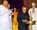 The President, Pranab Mukherjee, at the first Rukmini devi Lecture