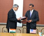 BP Sharma and Richard Verma exchange MoUs in the health sector
