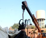 Folk dancers' statues removed from Heritage Street
