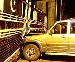 Car rams  into the border gate at Attari-Wagha border