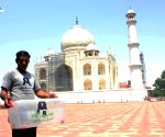Thirsty snake triggers panic at Taj Mahal (With Image)
