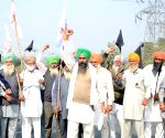 Thousands of farmers assemble at Haryana borders