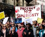 NEW ZEALAND-AUCKLAND-ANTI TPPA PROTEST
