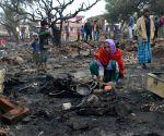 Jammu: Fire destroys shanties