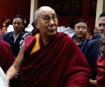 Dalai Lama arrives at Urgelling Monastery