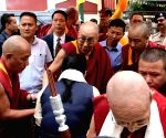 Dalai Lama at Neri Gompa