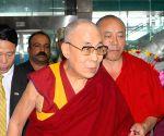 Dalai Lama arrives in Mangaluru