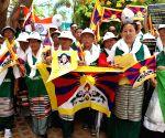 Tibetans' demonstration