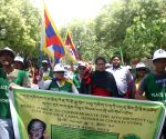 30th birthday of the 11th Panchen Lama - Tibetans participate in peace march