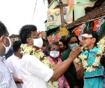 TMC candidate of Kolkata Port, Firhad Hakim at election campaign during State Assembly election in Kolkata, on April 16, 2021.