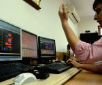 The BSE sensex is down by 254 points in Mumbai