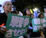 A protest against Abe cabinet's policy
