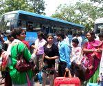 Tourists return back from Darjeeling
