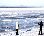 CHINA LIAONING DALIAN FROZEN SEA