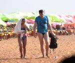Tourists at Calangute beach