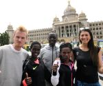 Athletes participating in World 10K Run at Vidhana Soudha
