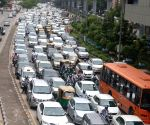 Traffic chaos after rain