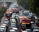 Traffic jam -India International Trade Fair