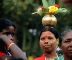 Tribal women during a rally