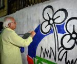 Lok Sabha 2019 preparations - Sobhandeb Chattopadhyay busy making graffiti