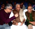 Yashwant Sinha,  Derek O'Brien during an interactive session