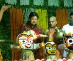 Lord Jaganath's Snana Yatra at Iskon Temple