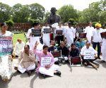 Trinamool Congress demonstration against Rail Budget 2014-15