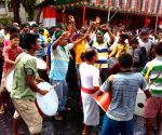 Kolkata : Trinamool Congress supporters celebrate