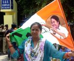 Trinamool Congress workers protest against CBI