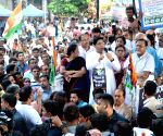 Trinamool Congress demonstration against hike in fuel prices