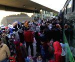 LEBANON TRIPOLI SYRIAN REFUGEES HOMEBOUND TRIP