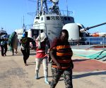LIBYA TRIPOLI ILLEGAL IMMIGRANTS RESCUED