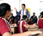 Biplab Kumar Deb interacts with students on Teachers' Day