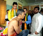 Tripura CM meets youths injured in police firing