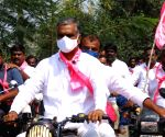 TRS holds massive motorcycle rally ahead of Dubbaka bypoll