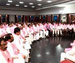 K.T. Rama Rao at TRS meeting