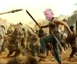 Trump's 'Baahubali' avatar is a hit