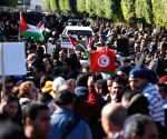 TUNISIA TUNIS PROTEST U.S. MIDDLE EAST PEACE PLAN