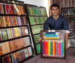 Tushar Lakhanpal with his pencil collection