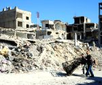 SYRIA DAMASCUS WAR WEARY TOWN